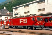 HGe 4/4 II 101 in Disentis. 1988