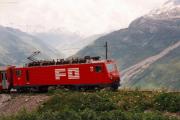 HGe 4/4 II 102 bei Nätschen. 1988