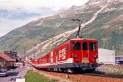 Deh 4/4 II 91 in Andermatt. 1988