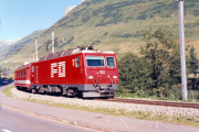 HGe 4/4 II 102 nach Hospental. 1988