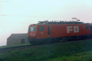 HGe 4/4 II 102 im Nebel oberhalb Andermatt. 1988