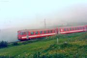 Pendelzug im Nebel bei Nästchen. 1988