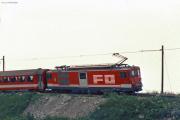 Deh 4/4 II 92 oberhalb Andermatt. 1988
