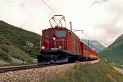 HGe 4/4 I unterhalb Oberalpsee. 1988
