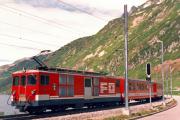 Deh 4/4 II 92 in Oberalppasshöhe-Calmot. 1988