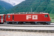 HGe 4/4 II 104 in Oberwald, 1997