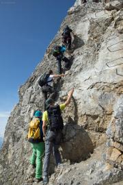 Abstieg | Klettersteig zum Vorgipfel