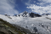 Ref. Albert 1er CAF (2702müM) ob Argentière/Le Tour |  Aig. du Chardonnet mit dem Glacier du Tour