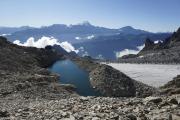 Cab du Trient --> Champex |  See bei der Cab. d'Orny CAS; Glacier d'Orny; Grand Combin und Mont Vélan