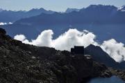 Cab du Trient --> Champex | Cab. d'Orny CAS; darüber Mont Blanc de Cheilon und Petit-Combin