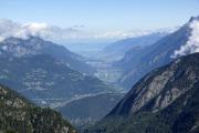 Cab du Trient --> Champex |  La Breya. Rhonetal bei Martigny; hinten: Genfersee