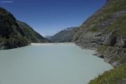 Mauvoisin --> Cab. Chanrion |  Weg entlang des Lac de Mauvoisin zum Col de Tsofeiret