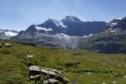 Mauvoisin --> Cab. Chanrion |  Weg entlang zum Col de Tsofeiret. Grand Combin