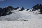 Chanrion --> Cab. des Vignettes |  Glacier d'Otemma. Col de Charmotane. Mont Collon, L'Evêque, Petit M. Collon (vlnr)