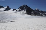 Chanrion --> Cab. des Vignettes |  Glacier d'Otemma. Col de Charmotane. L'Evêque, Petit M. Collon, La Singla (vlnr)