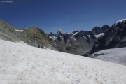 Chanrion --> Cab. des Vignettes |  Glacier d'Otemma. Col de Charmotane. Pointe und Dents de Bertol; Dent Blanche