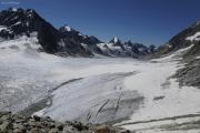 Chanrion --> Cab. des Vignettes |  Glacier d'Otemma. La Singla, Aouille Tseuque, Bec d'Epicoune, M. Gelé (vlnr)