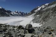 Chanrion --> Cab. des Vignettes |  Am Col des Vignettes; Glacier d'Otemma.