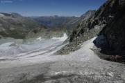 Cab. des Vignettes |  Glacier de Pièce. Berner Alpen mit Wildstrubel, Balmhorn und Blümlisalphorn (vlnr)