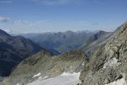 Cab. des Vignettes |  Val d'Hérens. Berner Alpen mit Wildstrubel, Balmhorn und Blümlisalphorn (vlnr)