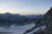 Cab. des Vignettes |  Glacier de Pièce. Aiguilles Rouges d'Arolla, Berner Alpen mit Balmhorn und Blümlisalphorn