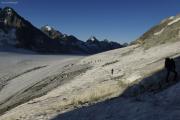 Cab. des Vignettes --> Cab. de Bertol |  Col de Charmotane, Glacier d'Otemma. La Singla, Aouille Tseuque