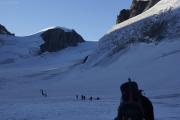 Cab. des Vignettes --> Cab. de Bertol |  Glacier du M. Collon. Aufstieg zum Col de l'Evêque