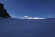 Cab. des Vignettes --> Cab. de Bertol |  Glacier du M. Collon. Aufstieg zum Col de l'Evêque. Pointes d'Oren