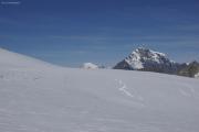 Cab. des Vignettes --> Cab. de Bertol |  Col de l'Evêque. Mont Blanc, Grand Combin