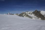Cab. des Vignettes --> Cab. de Bertol |  Col de l'Evêque. Mont Blanc, Grand Combin, La Serpentine, Petit M. Collon, Pigne d'Arolla