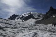 Cab. des Vignettes --> Cab. de Bertol |  Haut Glacier d'Arolla. Mont Brulé