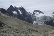 Cab. des Vignettes --> Cab. de Bertol |  Aufstieg zur Cab. de Bertol.  Mont Collon, Petit M. Collon, Glacier du M. Collon