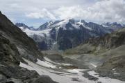 Cab. des Vignettes --> Cab. de Bertol |  Aufstieg zur Cab. de Bertol. Petit M. Collon, Col de Charmotane, Glacier du M. Collon, Pigne d'Arolla