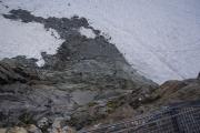 Cabane de Bertol CAS (3311müM) |  Runter geht's immer - hier auf den Glacier du Mont Miné