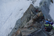Cab. de Bertol --> Schönbielhütte |  Abstieg von der Cab. de Bertol - links zum Glacier du Mont Miné, rechts ins Tal nach Arolla
