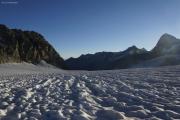 Cab. de Bertol --> Schönbielhütte |  Glacier du Mont Miné, Grand Cornier, Weisshorn, Dent Blanche