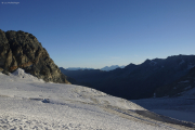 Cab. de Bertol --> Schönbielhütte |  Glacier du Mont Miné, Berner Alpen mit Wildstrubel, Rinderhorn, Balmhorn, Dolderhorn