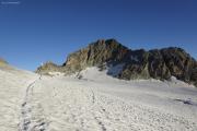Cab. de Bertol --> Schönbielhütte |  Glacier du Mont Miné. Cabane de Bertol, Pointe de Bertol