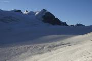 Cab. de Bertol --> Schönbielhütte |  Glacier du Mont Miné. Tête Blanche, Dent d'Hérens, Tête de Chavannes