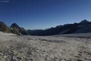 Cab. de Bertol --> Schönbielhütte |  Glacier du Mont Miné. Blanche de Perroc, Wildstrubel, Rinderhorn, Balmhorn, Grand Cornier