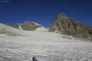 Cab. de Bertol --> Schönbielhütte |  Glacier du Mont Miné. Dents de Bertol