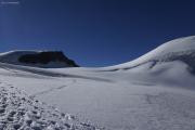 Cab. de Bertol --> Schönbielhütte |  Glacier du Mont Miné. Aufstieg zum Tête Blanche (l)