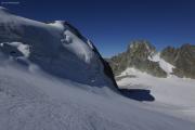 Cab. de Bertol --> Schönbielhütte |  Glacier du Mont Miné. Aufstieg zum Tête Blanche. Dents des Bouquetins