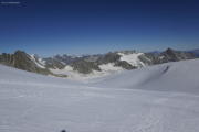 Cab. de Bertol --> Schönbielhütte |  Glacier du Mont Miné. Aufstieg zum Tête Blanche. Aig. de la Tsa