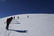 Cab. de Bertol --> Schönbielhütte |  Glacier du Mont Miné. Aufstieg zum Tête Blanche