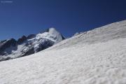 Cab. de Bertol --> Schönbielhütte    Abstieg vom Tête Blanche über den Stockjigletscher. Dent d'Hérens