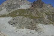 Cab. de Bertol --> Schönbielhütte    Der Zustieg zur Schönbielhütte führt neu durch die Felswand statt der Moräne hoch