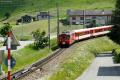 Regionalzug mit Deh 4/4 I 24 aus Disentis erreicht Andermatt