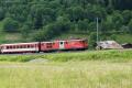 Regionalzug mit Deh 4/4 I 55 in Fiesch