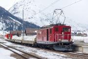 HGe 4/4 I 36 vor Autozug über den Oberalppass; Andermatt